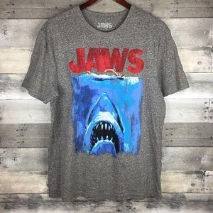 JAWS Men's Graphic Tee Gray Shark Bait Swim